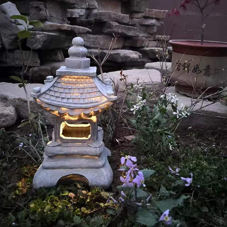 L-JTLYM Solar Outdoor LED Lights Garden Max 42% OFF DecorativeRetro Max 87% OFF Pagoda