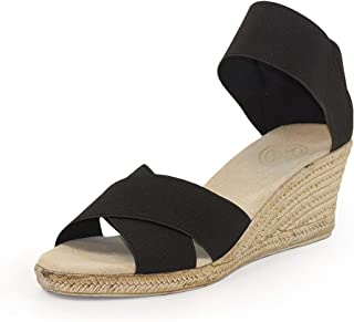 Cannon Criss-Cross Espadrille Wedge Sandal - by Charleston Shoe Co.