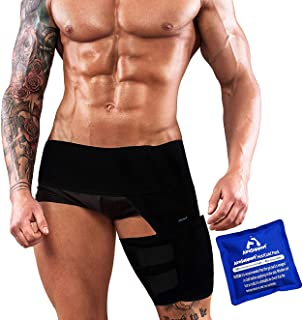AireSupport by Dr. Hammond Hip Brace with Adjustable Hip Support for Sciatic Nerve Pain Relief, Groin and Hamstring Support, Comfortable Hip Compression Brace for Men and Women