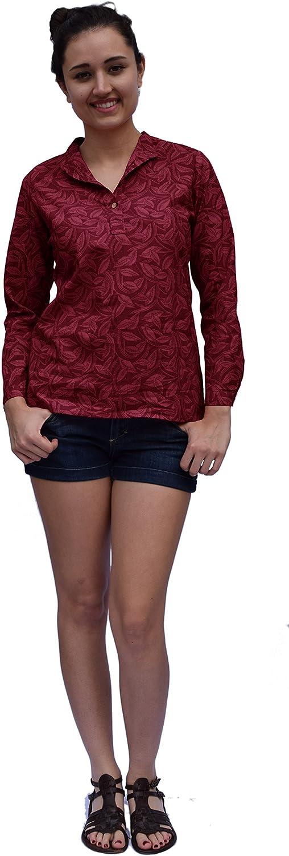 Ayurvastram Pure Cotton Hand Block Printed Top Shirt Blouse