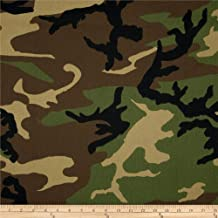 Carr Textile Poly/Cotton Twill Woodland Camouflage Brown/Green/Black