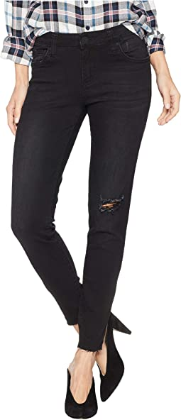 Connie Ankle Skinny with Cut Off Hem Jeans in Ideal