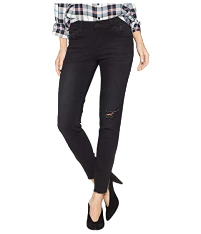 KUT from the Kloth Connie Ankle Skinny with Cut Off Hem Jeans in Ideal (Ideal/Black Base Wash) Women