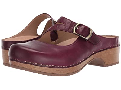 Dansko Britney (Wine Waxy Burnished) Women