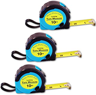Where's My Tape Measure? - 10ft Tape Measure Retractable (3 Pack) Tape Measure with Fractions - Locking Small Measuring Ta...