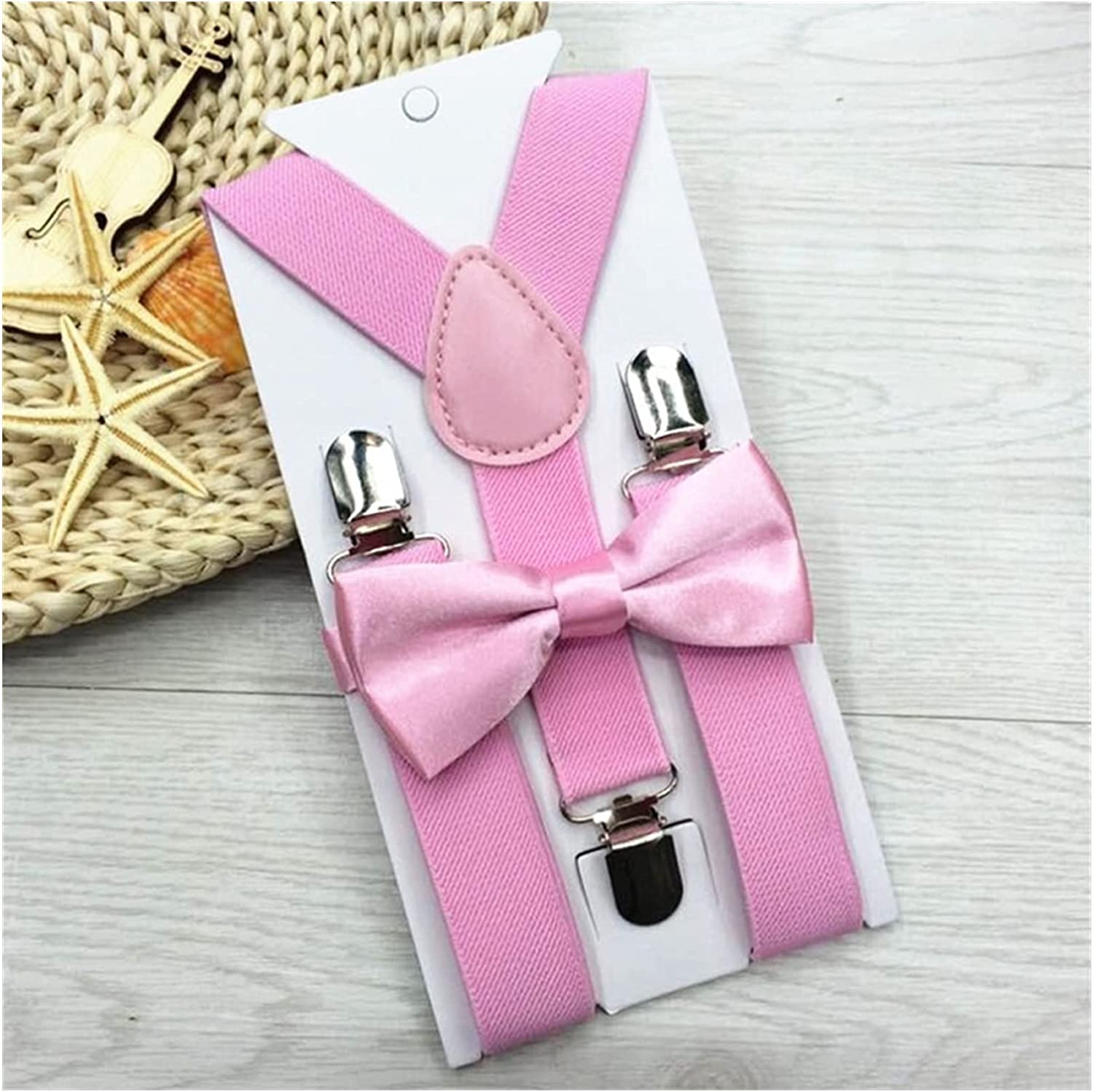 JSJJAYU Men's tie 2020 New Kids Suspenders with Bowtie Bow Tie Set Matching Ties Outfits 12 Colors Adjustable and Elastic (Farbe : 11, Größe : One Size)