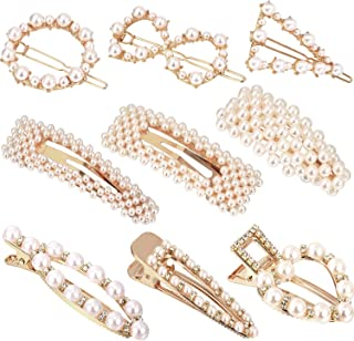 9PCS Pearl Hair Clips for Women(Style 1)