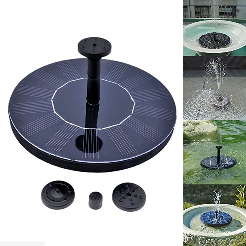 Asdomo Solar Fountain Pond Pump with 4 Different Spray Pattern Free Standing Solar Water Pumps Outdoor Fountain for Small Pond, Patio Garden