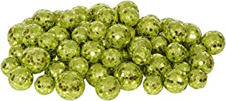 Vickerman 60ct Kiwi Green Sequin and Glitter Christmas Ball Decorations 0.8