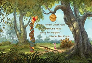7x5ft Winnie The Pooh Birthday Party Supplies Photography Backdrop Cartoon Jungle Forest Baby Shower Background Step and Repeat Dessert Table Banner Photo Studio Props LF-260