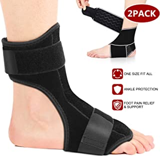 HOATWOU Plantar Fasciitis Night Splint - Adjustable Breathable Ankle Support Unisex Fits for Right or Left Foot - Perfect Option for Plantar Fasciitis Pain Relief, Heel Pain, and Treatment Arch Support