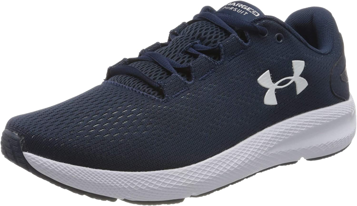 Under Armour Men's Charged Pursuit 2 Running Shoe, Academy Blue (401)/White, 9.5 M US