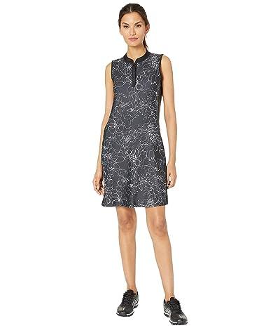 Tribal Printed Stretch Knit Golf Dress w/ Shorts (Jet Black) Women