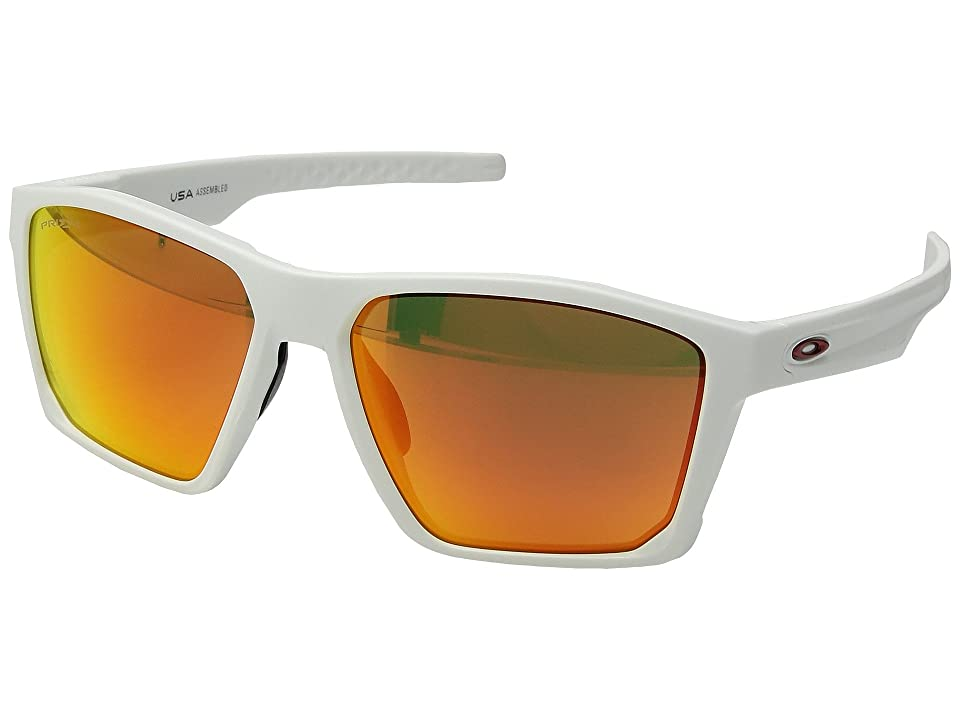 Oakley Targetline (Matte White w/ Prizm Ruby) Athletic Performance Sport Sunglasses