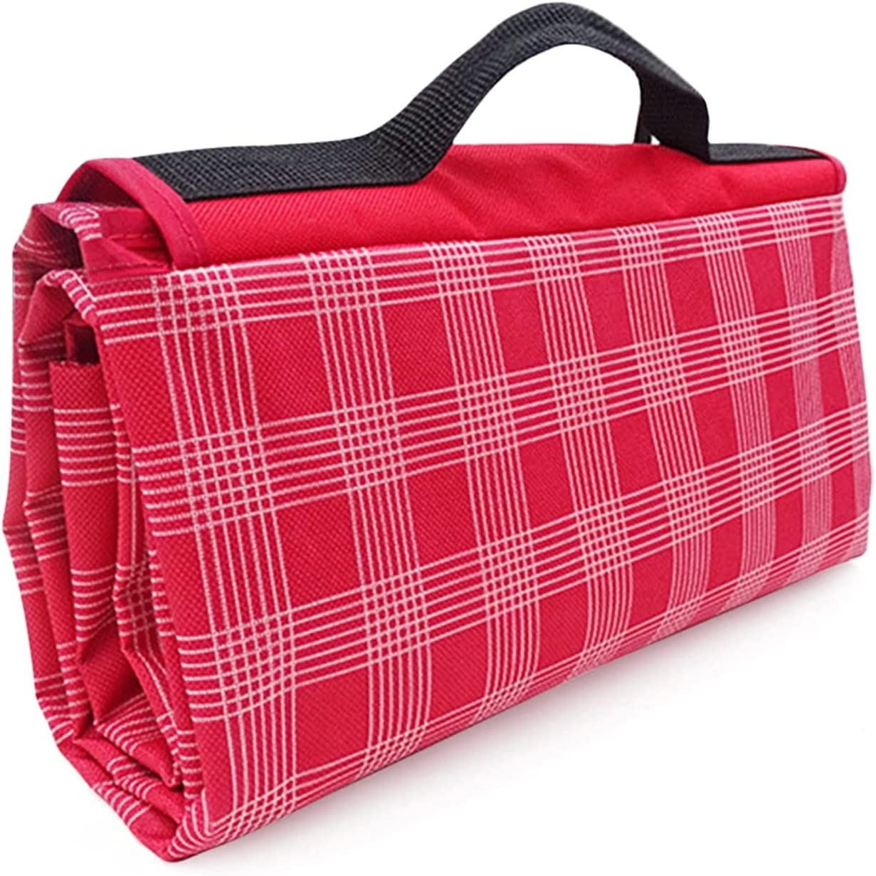 HEHXKJ Picnic depot Blanket excellence Red White Outdoor Plaid Waterproo Foldable