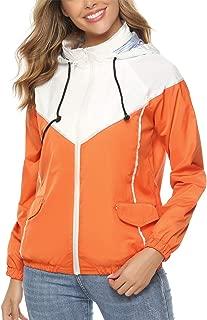 Women's Waterproof Rain Jacket Packable Active Outdoor Hooded Raincoat Windbreaker