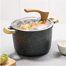 XSWY Kitchenware Soup Pot, Uncoated Thick Cast Iron Pot, Portable Large Stock Pot, Induction Cooker Gas Gas Stove Open Fir...