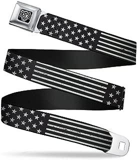 Seatbelt Belt - Americana Stars & Stripes2 Weathered Black/Gray - 1.5