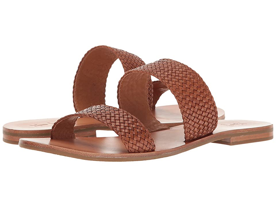 Frye Ruth Woven Slide (Cognac Polished Soft Full Grain) Women