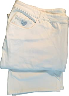 Quacker Factory Dream Genie White Pants 28W