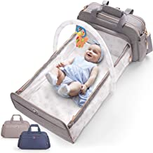 Best 4-in-1 Convertible Baby Diaper Bag - Get Organized with Multi-Purpose Travel Baby Bag - Includes Bassinet & Changing Pad - Lightweight Design Wears 4 Ways - Spacious Interior - 19.6 x 10.2 Inches Review