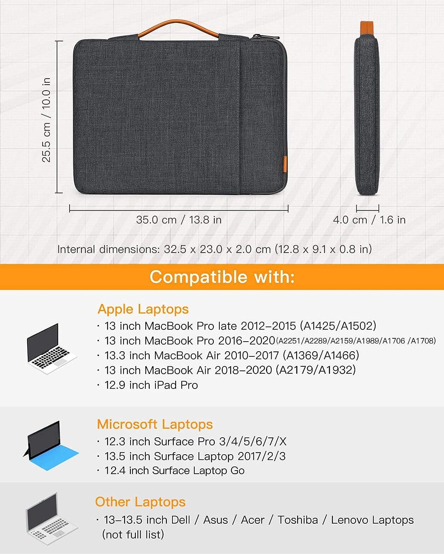 Rose MateBook D14 Surface Pro X//7//6//5//4//3 Inateck Housse 13-13,3 Pouces Ordinateur Portable Compatible avec MacBook Air//Pro M1 2020 MacBook Air 13 2020//2018 MacBook Pro 13 2012-2020