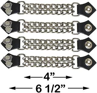 Dream Apparel 4 Pcs Per Set Motorcycle V-Twin Engine Double Diamond Cut Chrome Chain Vest Extender