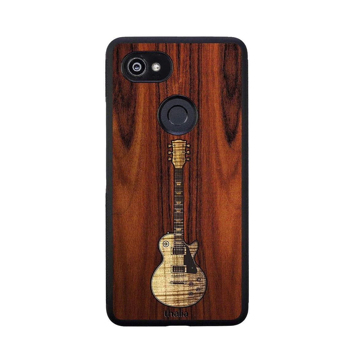 Santos Rosewood & Les Paul Hawaiian Koa Inlaid Guitar Phone Case | Thalia Exotic Wood Cases Google Pixel 2XL