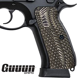 Guuun G10 CZ Grips for Full Size CZ 75 SP-01 OPS Eagle Wing Texture
