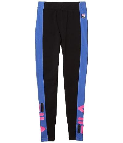 Fila Macarena High-Waisted Leggings (Black/Amparo Blue/Magenta) Women