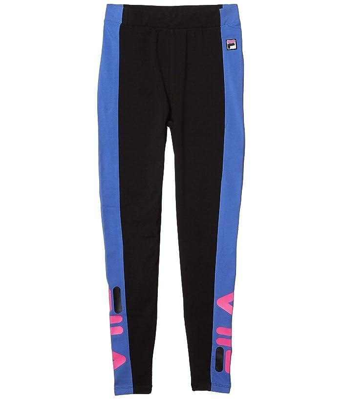 Fila Macarena High-Waisted Leggings (Black/Amparo Blue/Magenta) Women's Casual Pants