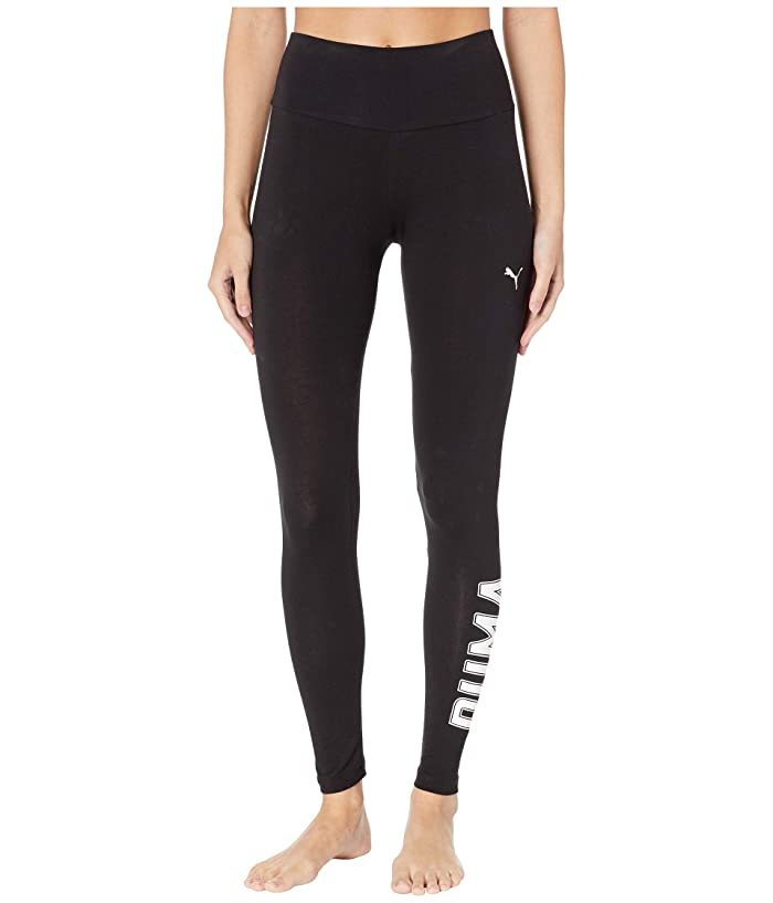 PUMA Athletics Logo Leggings (Cotton Black) Women