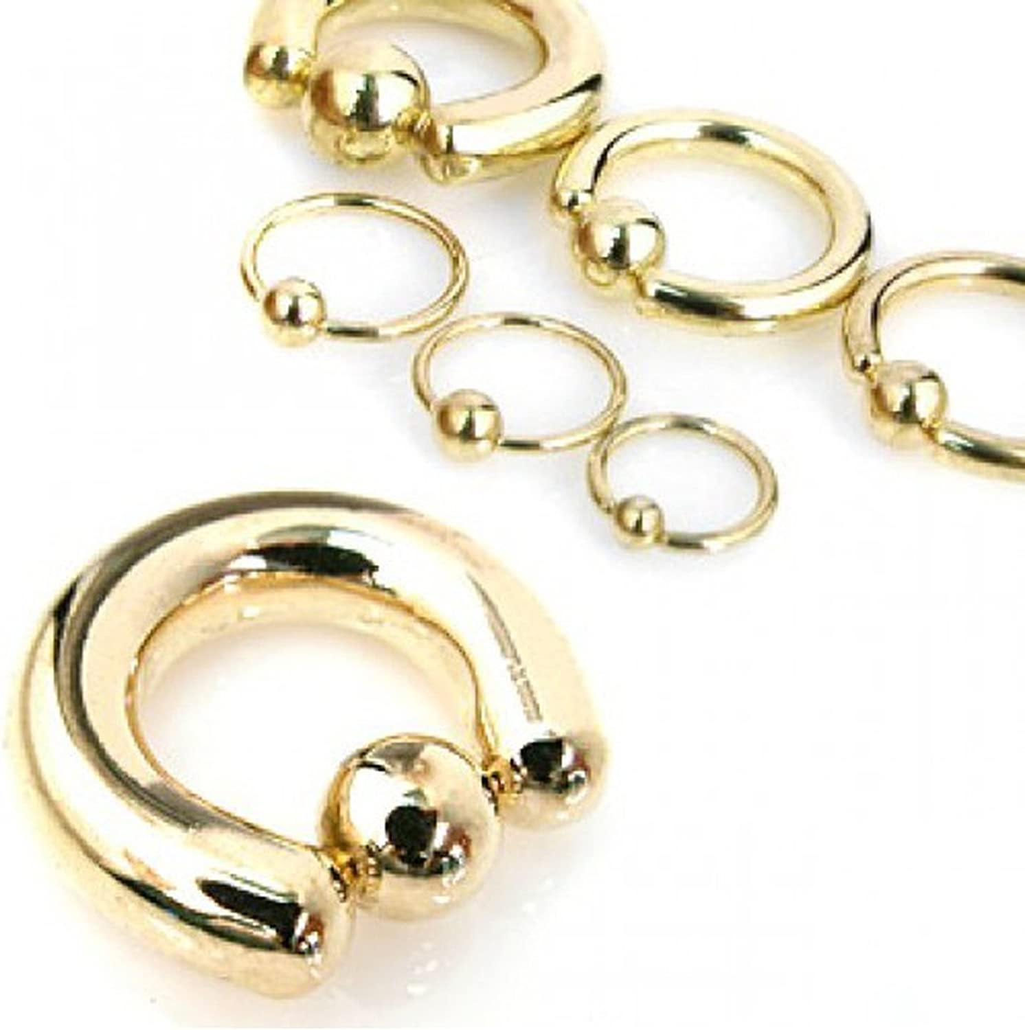 Inspiration Dezigns Gold Captive Bead Piercing Jewelry Rings