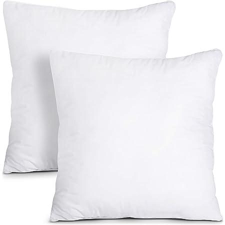 Amazon Com Foamily Premium Hypoallergenic Stuffer Pillow Insert Sham Square Form Polyester 12 L X 12 W Standard White Home Kitchen