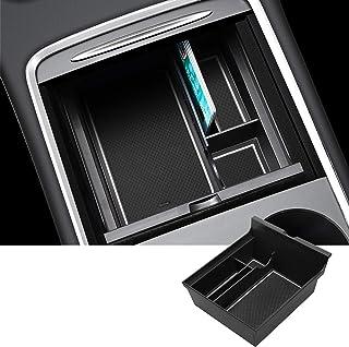 SHAOHAO Tesla Model3 2021 Console centrale Accoudoir Boîte de rangement Accoudoir Central Organisateur Tray, Boîte à gants...