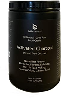 product image for Large - Less-Mess Jar Coconut Activated Charcoal Powder - Bulk - Food Grade, Kosher, NSF - Teeth Whitening, Facial Scrub, Soap Making