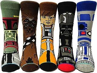 CMTKJ, 5 pares de calcetines divertidos de Star Wars, calcetines de algodón personalizados, regalos para el día de San Valentín