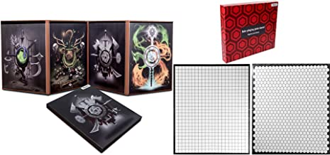 Hexers Game Master Screen and Hexers Role-Playing Game Board, Compatible with Dungeons and Dragons, DND DM Pathfinder RPG ...