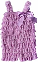 FEESHOW Baby Girls' Lace Petti Romper Ruffle Tiered Summer Outfits
