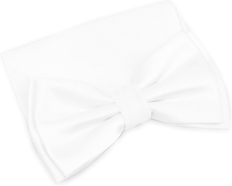 100% Silk Satin Solid Color Ready Bow Tie