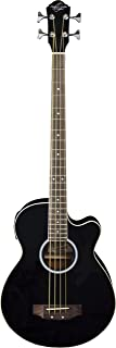 Oscar Schmidt OB100B-A-U 4-String Acoustic-Electric Bass with Gig Bag - Black