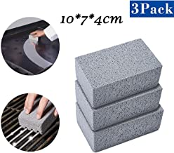 m·kvfa 3pc Commercial Grade Grill Cleaning Brick Griddle Grill Cleaner BBQ Barbecue Scraper Griddle Stone Without Harsh Chemicals or Abrasives