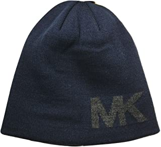 MK Reversible Knit Beanie, Navy, One Size