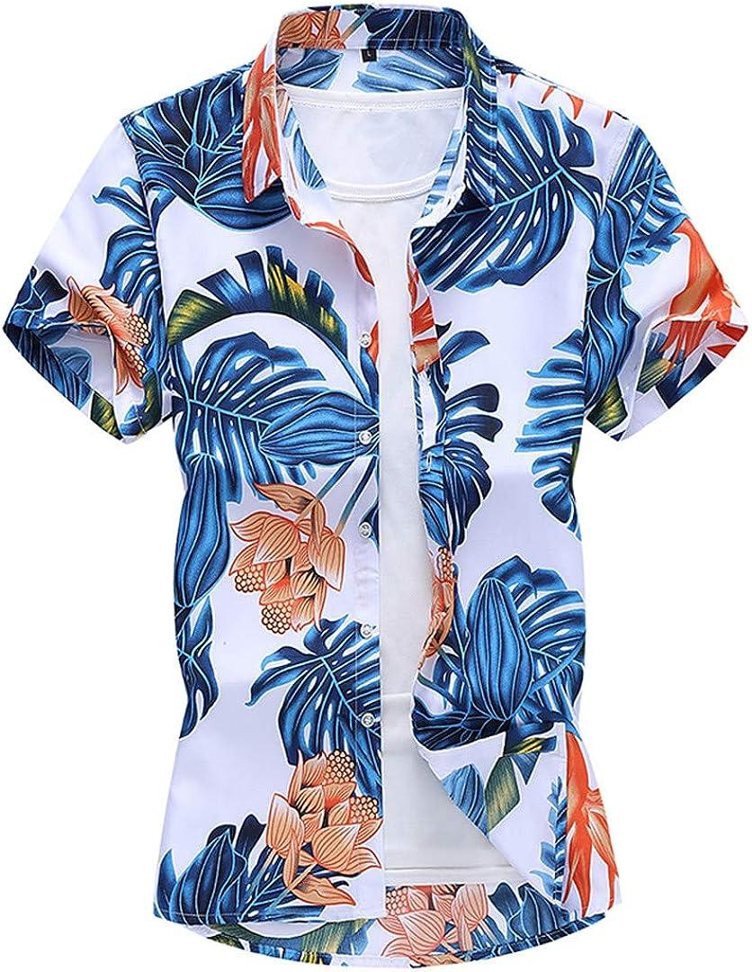 3DT xushan Short Sleeve Casual Department store Shirt Blouse Men's Our shop most popular Su Print Beach