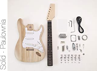 DIY Electric Guitar Kit - ST Style Paulownia Build Your Own Guitar
