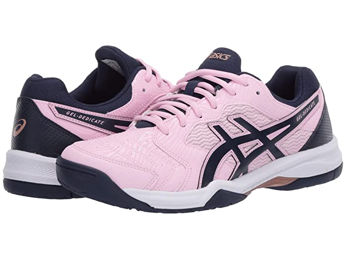 ASICS  GEL-Dedicate 6 (Cotton Candy/Peacoat) Womens Tennis Shoes
