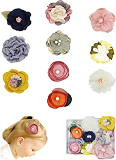 Fancy Clouds Girls Hair Bows flowers clips Barrettes,Lined Alligator,Hair Accessories for Baby Toddler Kids
