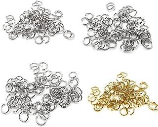 HooAIM 1000 pcs Anneaux de Jonction en Acier inoxydable Ouvert Accessoires de bijoux pour DIY Cr/éation de BIjoux