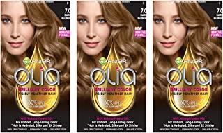 Garnier Olia Ammonia-Free Brilliant Color Oil-Rich Permanent Hair Color, 7.0 Dark Blonde (3 Count) Blonde Hair Dye (Packaging May Vary)