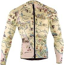 Vintage 1935 Texas State Map Men's Cycling Jerseys Biking Shirts Long Sleeve Bike Clothing Full Zipper Bicycle Jacket